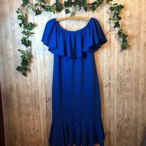 NEW Lularoe Solid Blue Cici XL Dress